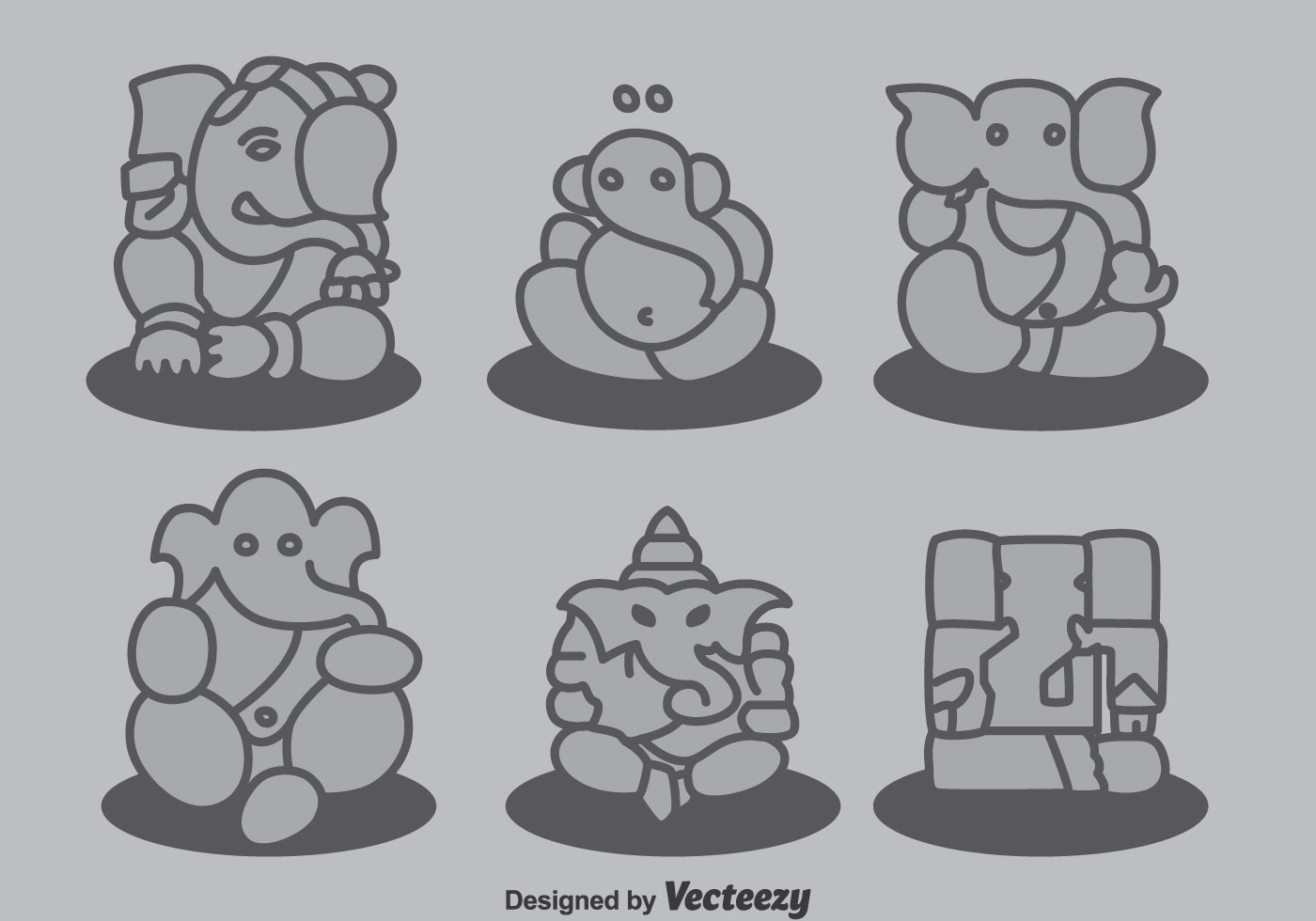 Ganesha Collection Vector - Download Free Vector Art ...