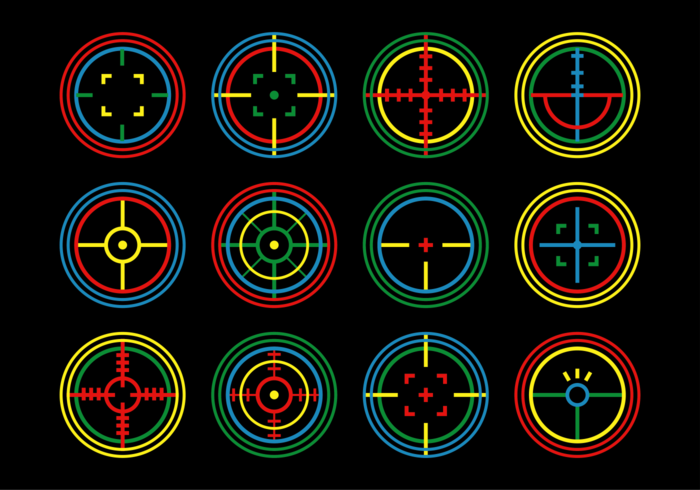 Laser Tag Target Vector Set
