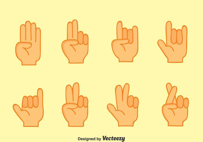 Nice Hand Gestures Collection Vector