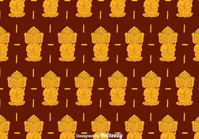 Ganesha Pattern Background