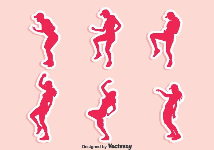 Zumba Dance Vector Set