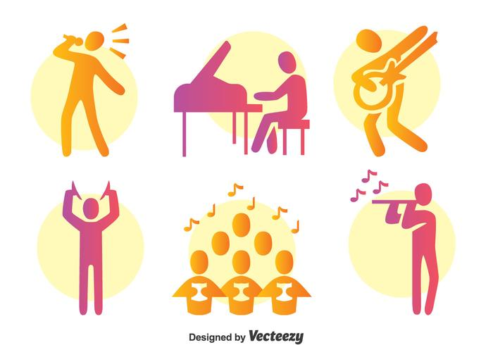 Colorful Musician Vector