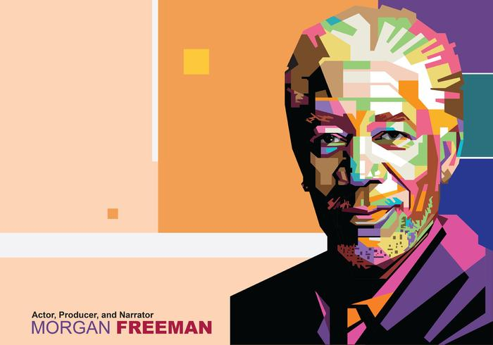 Morgan Freeman in Popart Portrait