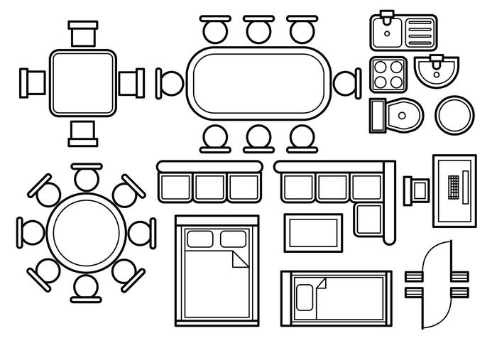 Floor Plan Vector Download Free Art Stock