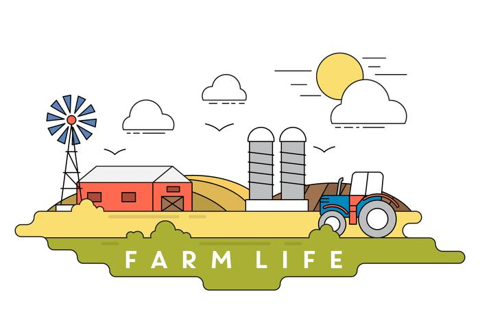 Illustration vectorielle de ferme