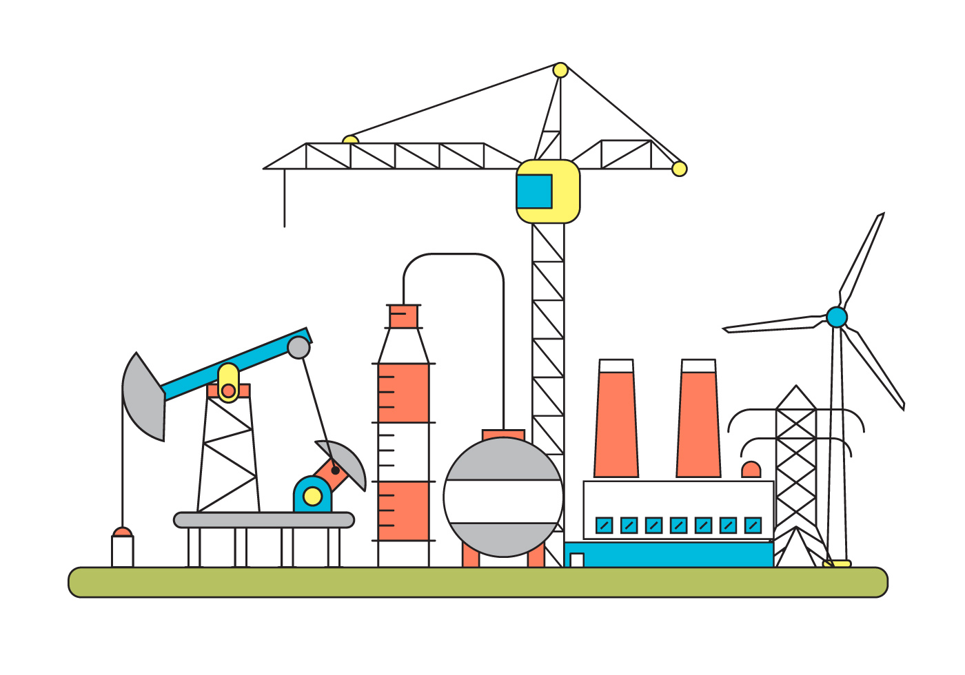 Factory Vector Illustration - Download Free Vector Art ...