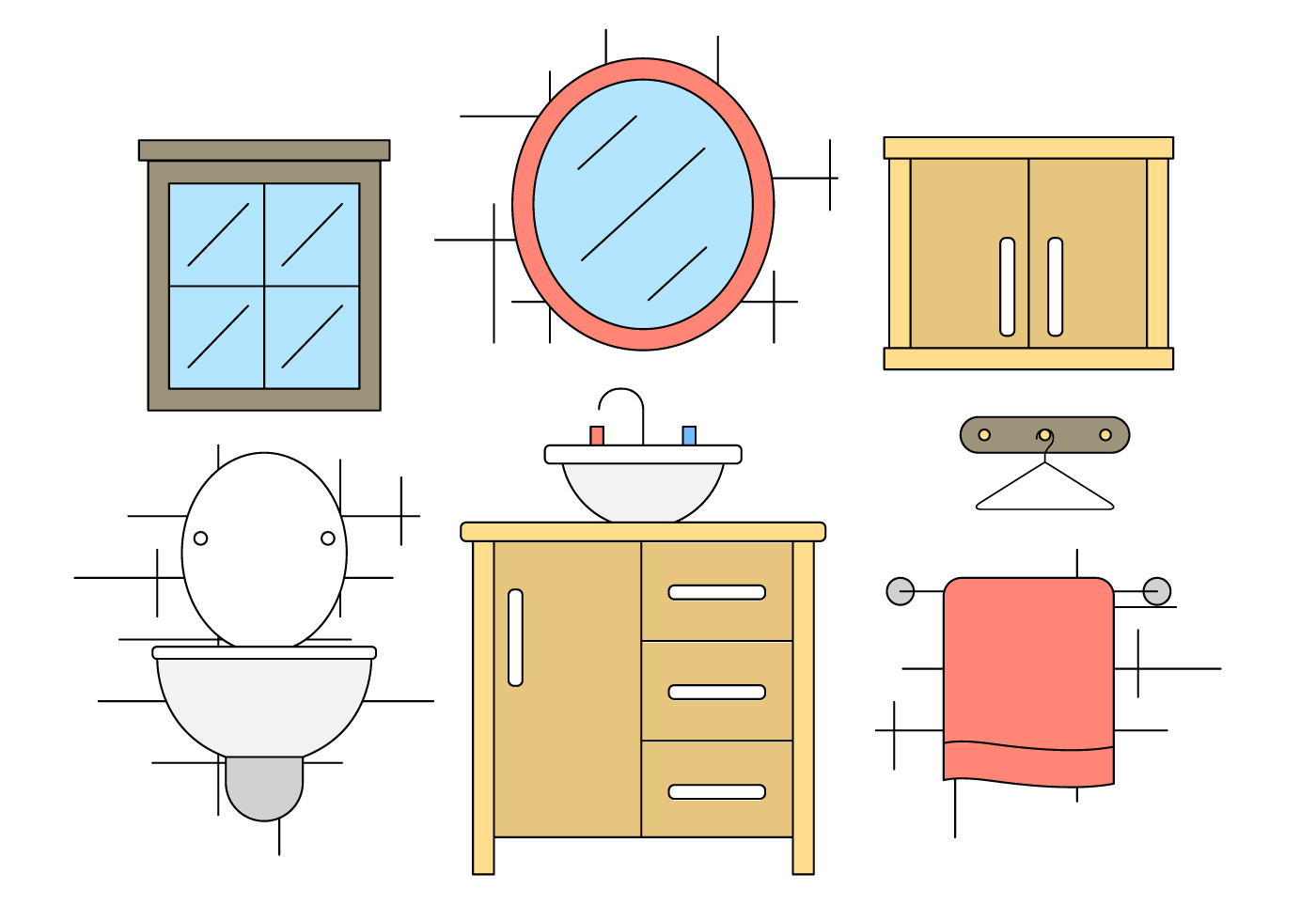 Bathroom Vector Icons  Download Free Vector Art, Stock Graphics & Images -> Banheiro Feminino Vetor Free