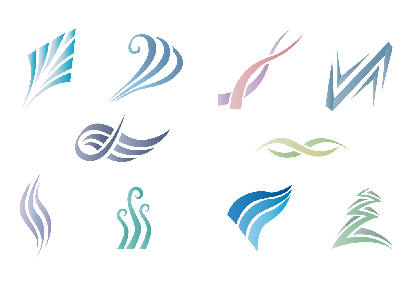 swish object abstract gradient color vector pack Swoosh Fonts Free Download Swoosh Vector Art