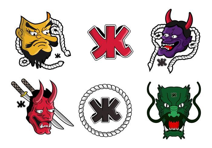 Japanese yakuza tattoo symbol vector