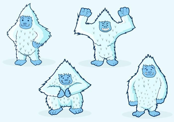 Yeti Character Illustrations
