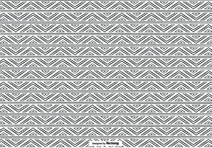 Hand Drawn Ethnic Style Pattern Background