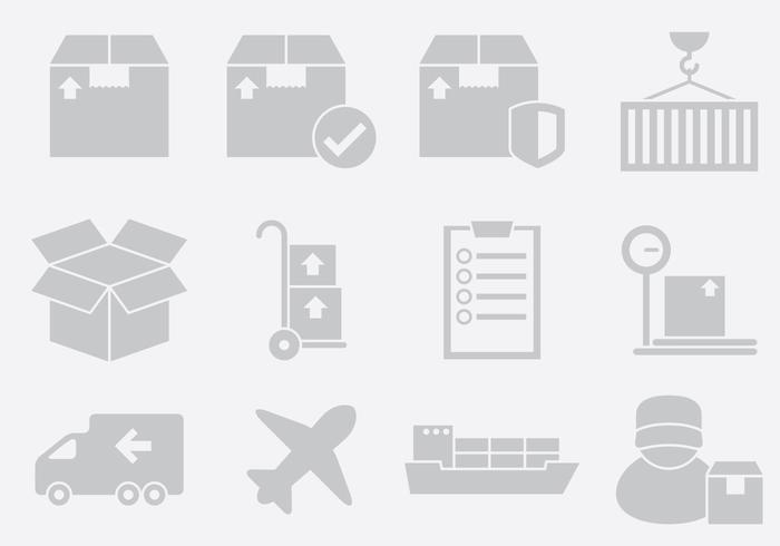 Gray Delivery Icons