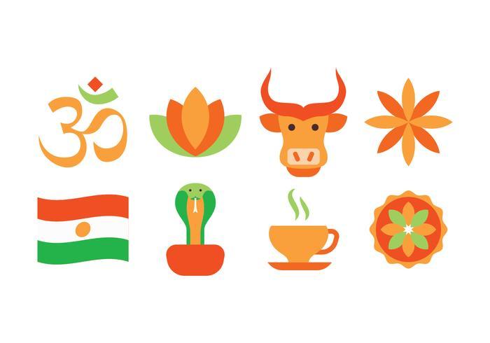 Ensemble d'icônes en Inde gratuit