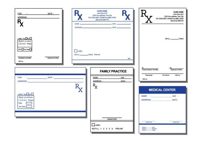 Prescription Pad Vector