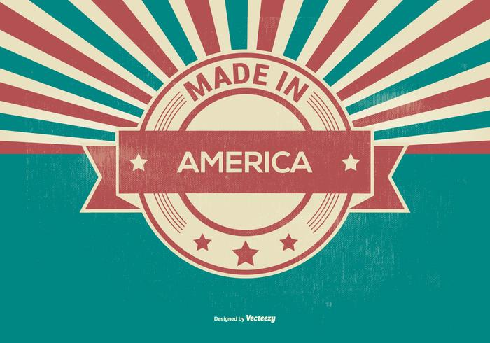 Retro Gemaakt In Amerika Illustratie