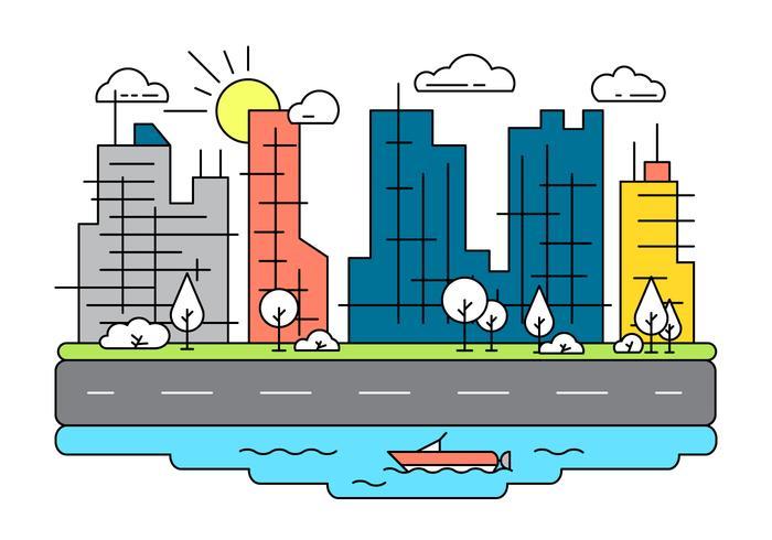 Ilustração gratuita da cidade vetorial