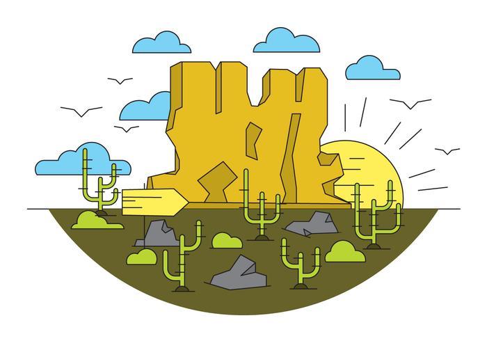 Grand Canyon Vector Illustration