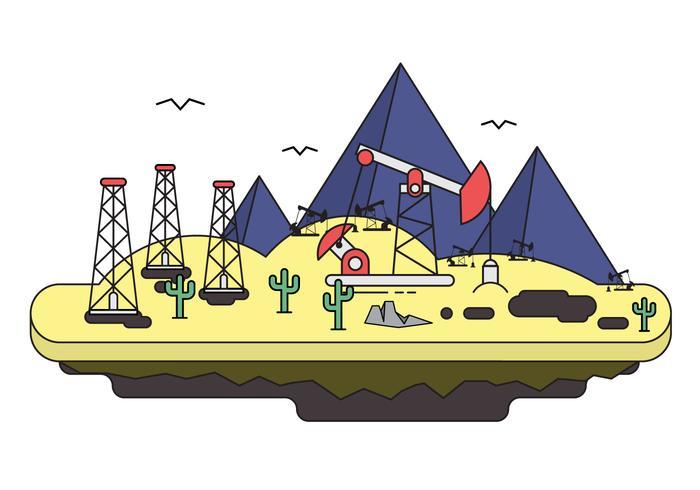 Illustration libre du champ pétrolifère