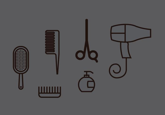 Hair Clippers Vector Set