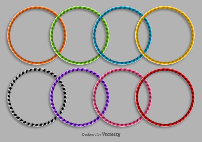 Conjunto de ícones de Hula Hoop