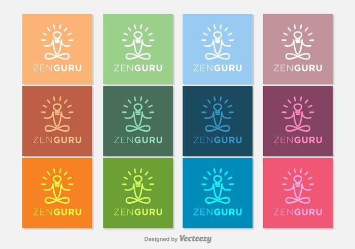 Gurú Zen Vector Iconos
