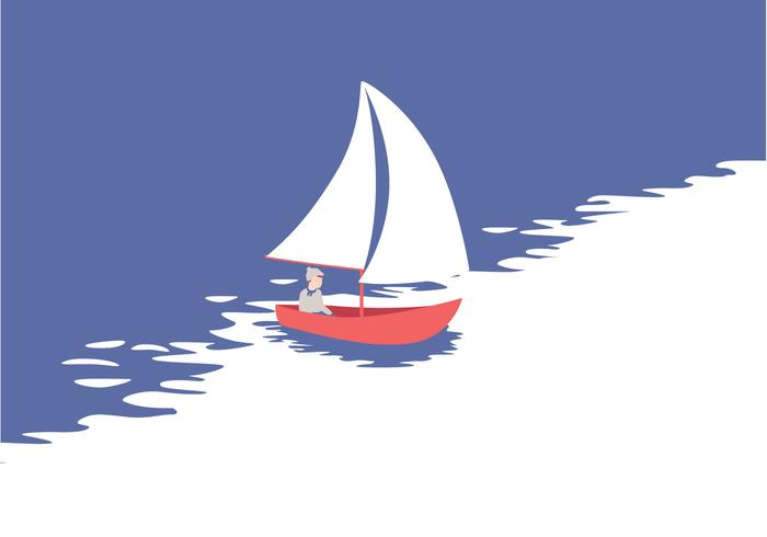 Vector Sailing Illustration
