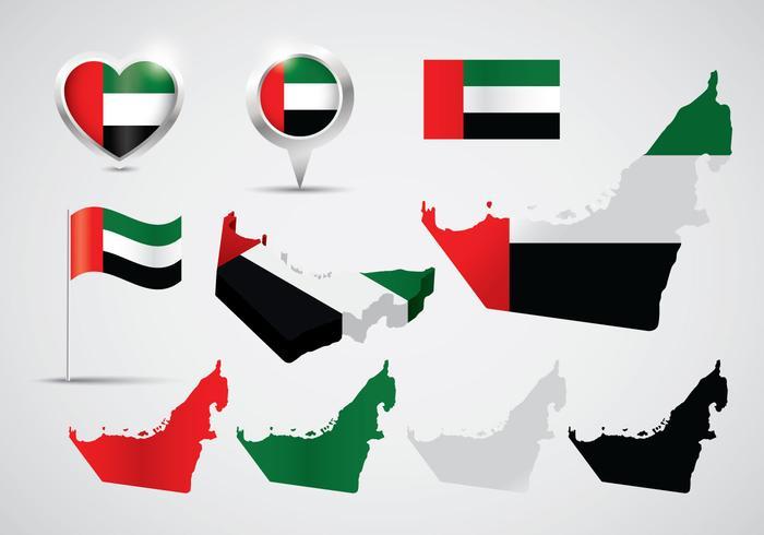 Vecteurs de carte des EAU