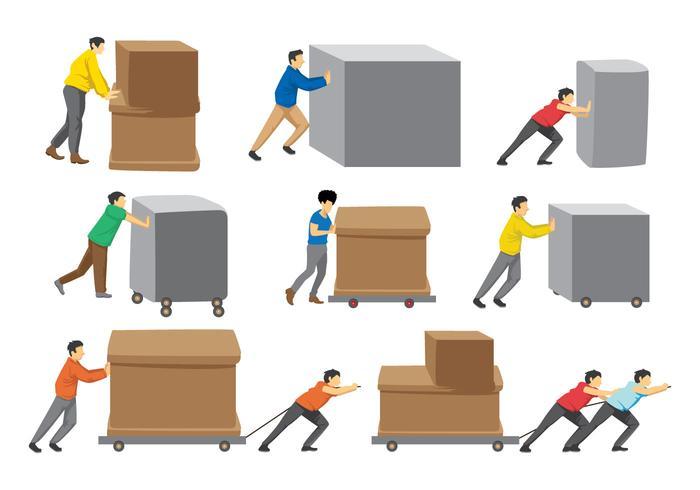 Free Man Pushing Boxes