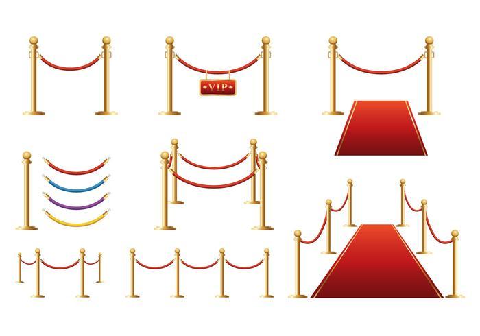 Vector de barreira de veludo grátis