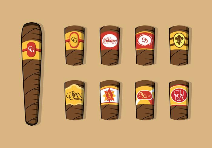 Vettore dell'etichetta del sigaro