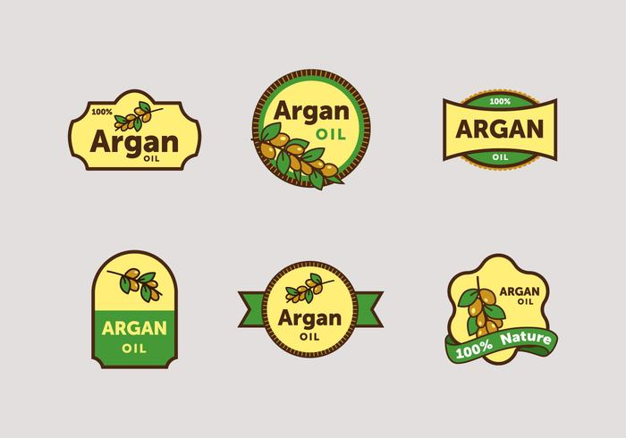 Paquete de vectores de etiquetas Argan