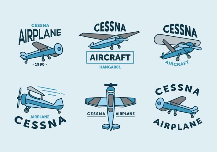 Vintage cessna logo vector pack