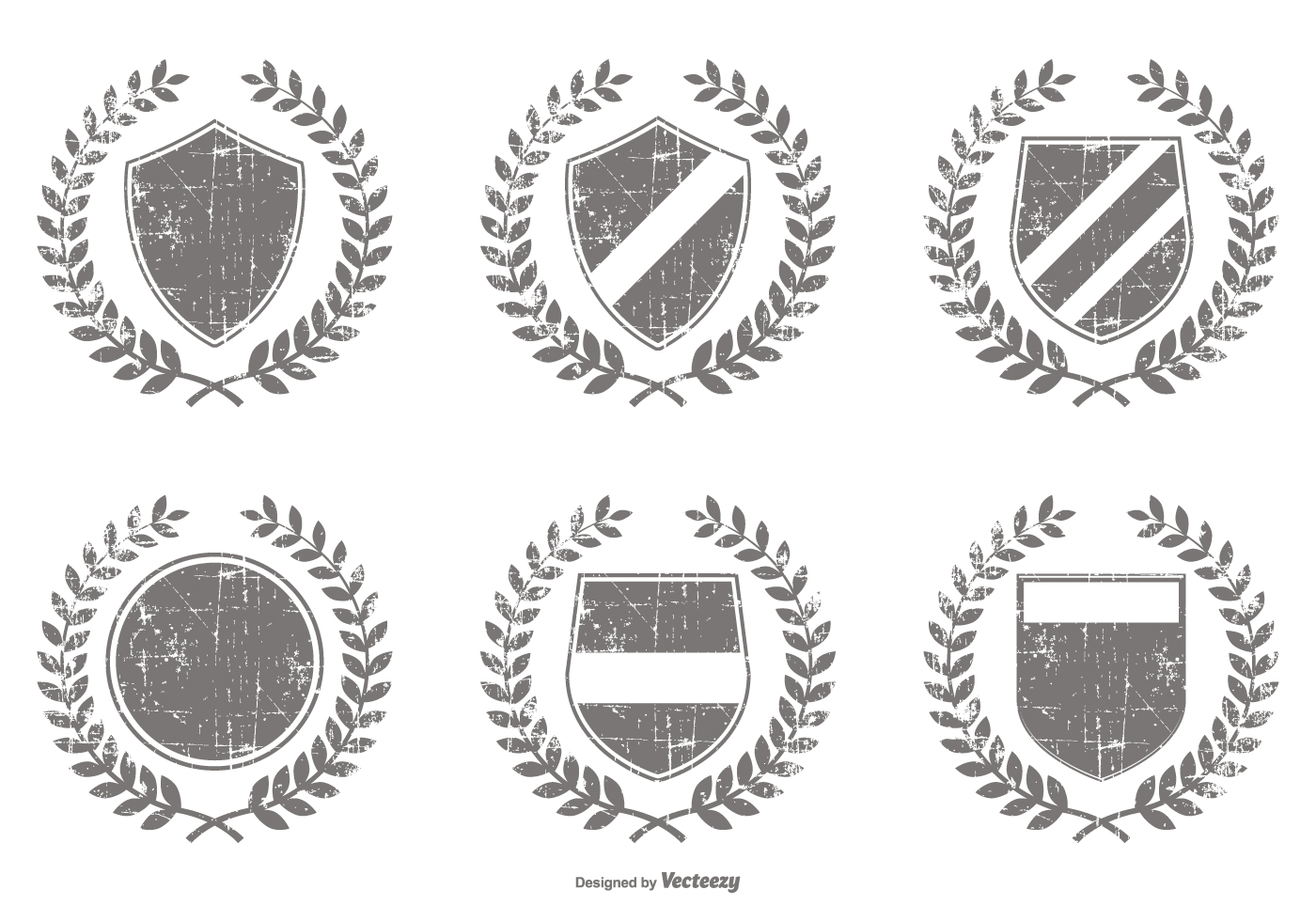 distressed vector crest shapes download free vector art
