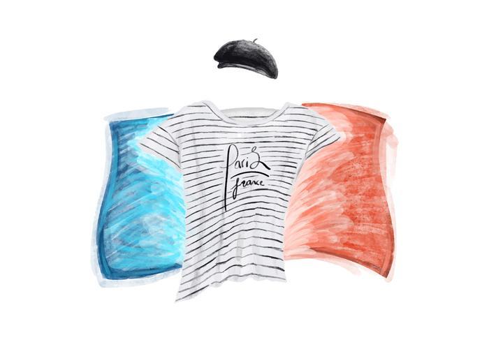Free Parisian Wear Watercolor Vector