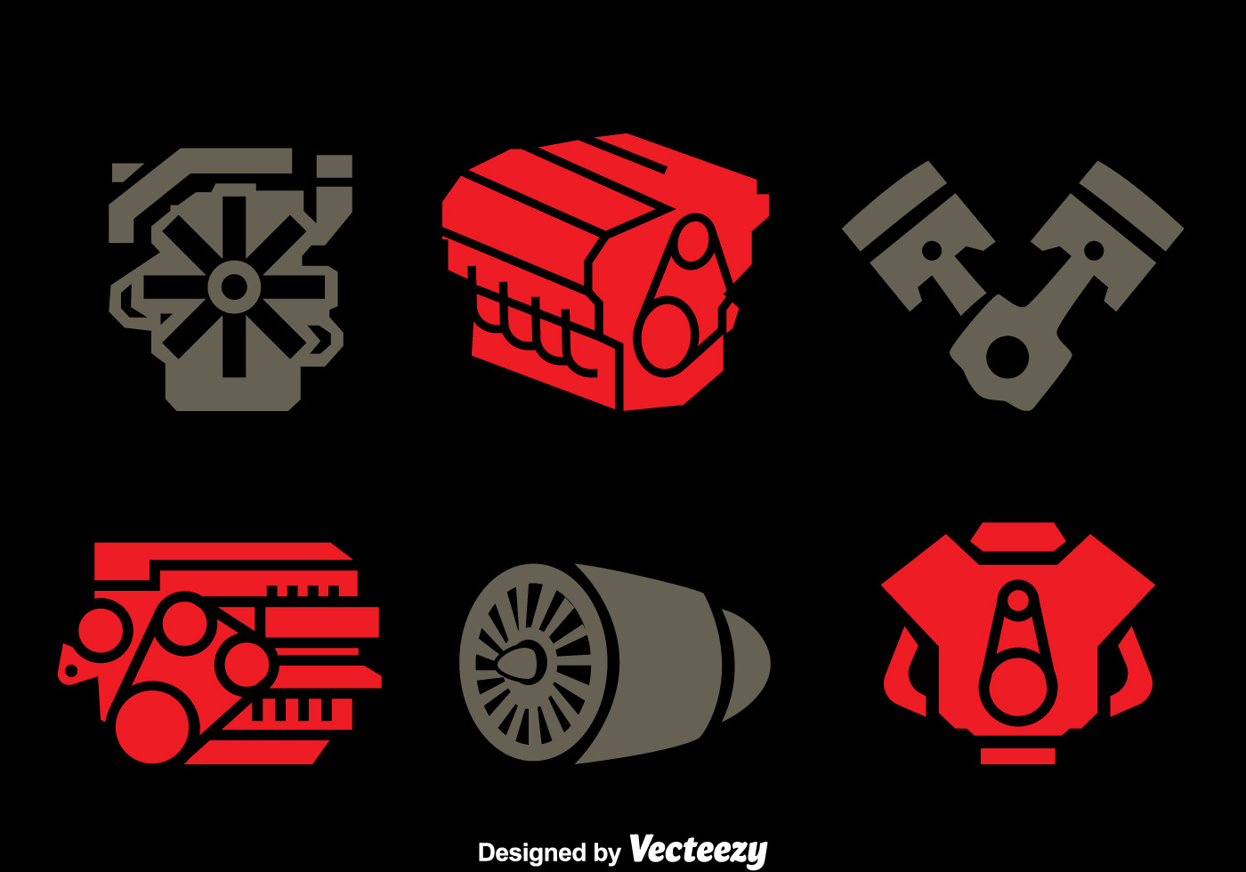 Engine Icons Vector Set Download Free Vector Art Stock