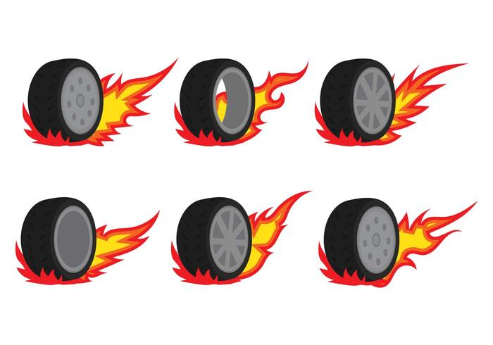 Burnout Car Vectors - Download Free Vectors, Clipart
