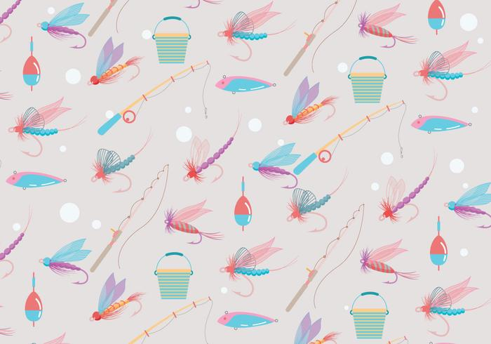 Fly Fishing Pattern Vector