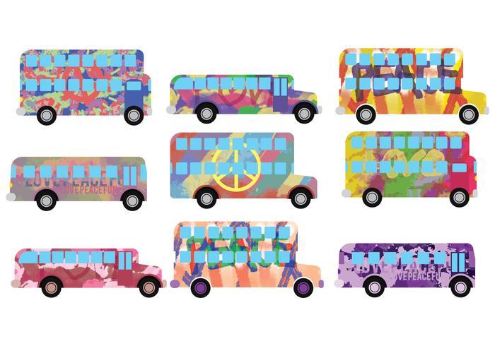Hippe bus vecteurs