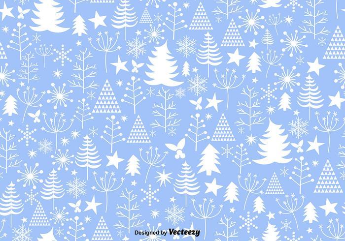 Blue Winter Christmas Seamless Pattern