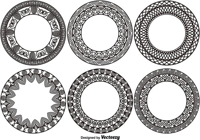 Set of 6 Ornamental Monograms vector