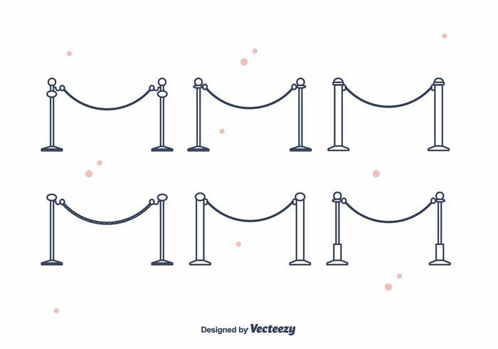 Velvet Ropes Vector