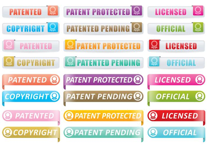 Patent And Copyright Buttons