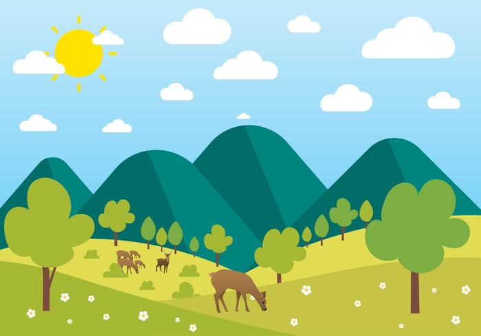 Free Beautiful Vector Landscape