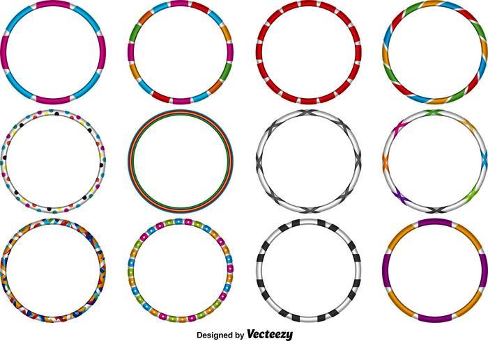 Vector Hula Hoops Set