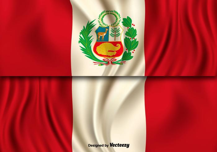Vector Illustration Of Peru Flag