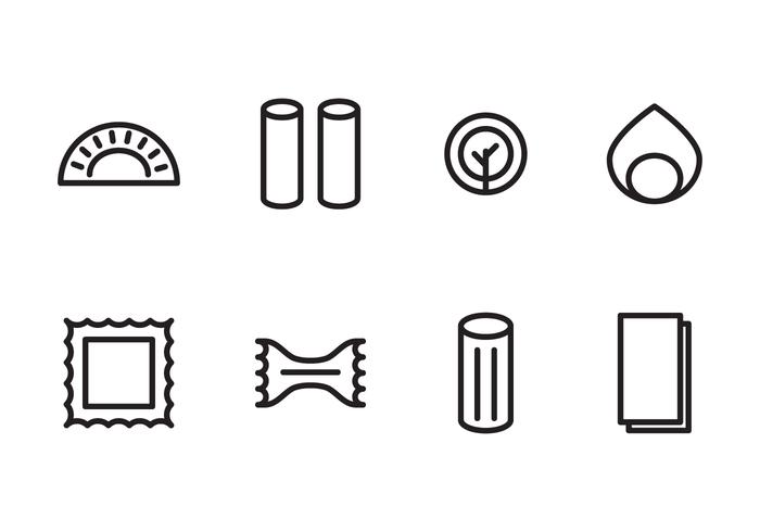 Icons für Pasta Lovers vektor