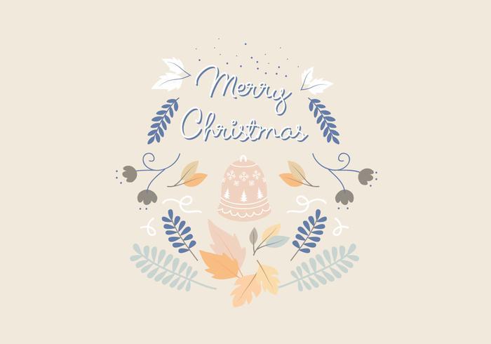 Christmas Plant Greeting Illustration