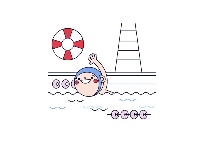 Free Swimming Vector