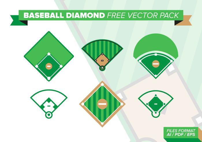 Pack de vecteur gratuit Diamond Baseball