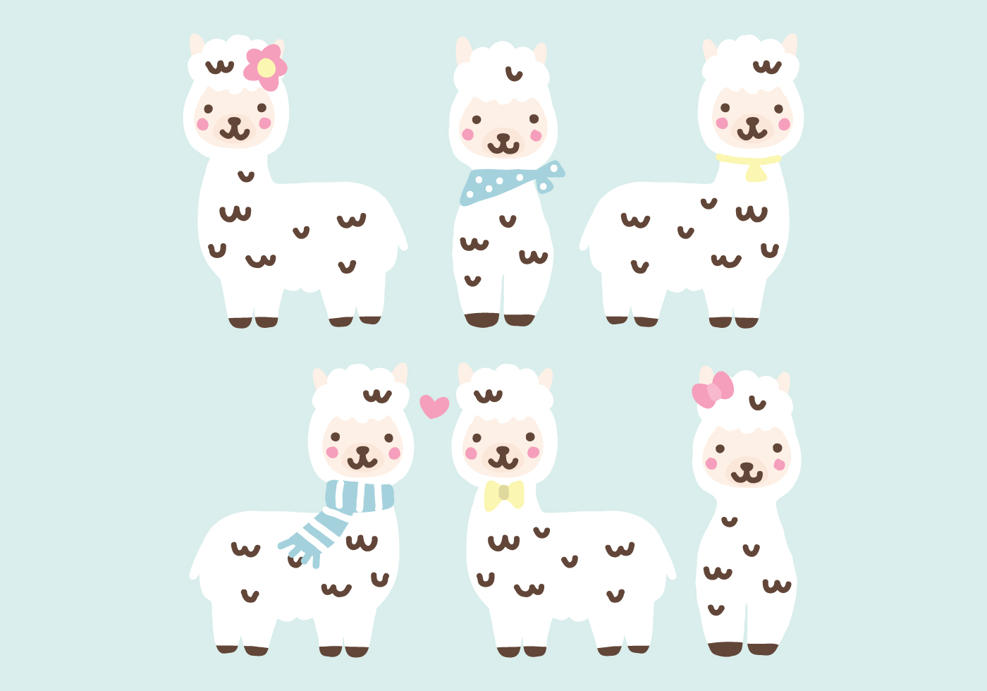 Super Cute Alpacas - Download Free Vector Art, Stock ...